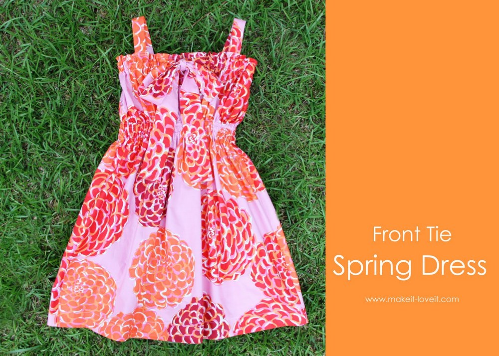 19 Front Tie SPring Dress