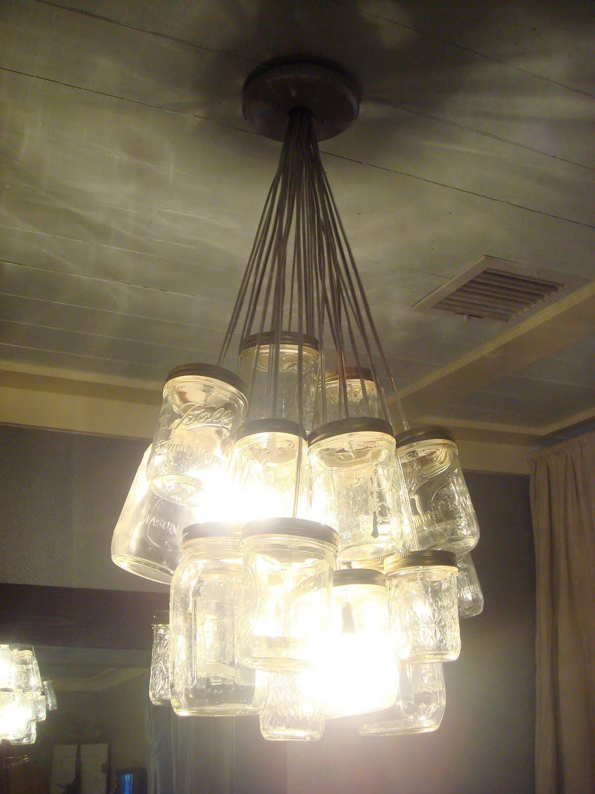 Great Bead and Ruffle Chandelier by Garage Sales R Us