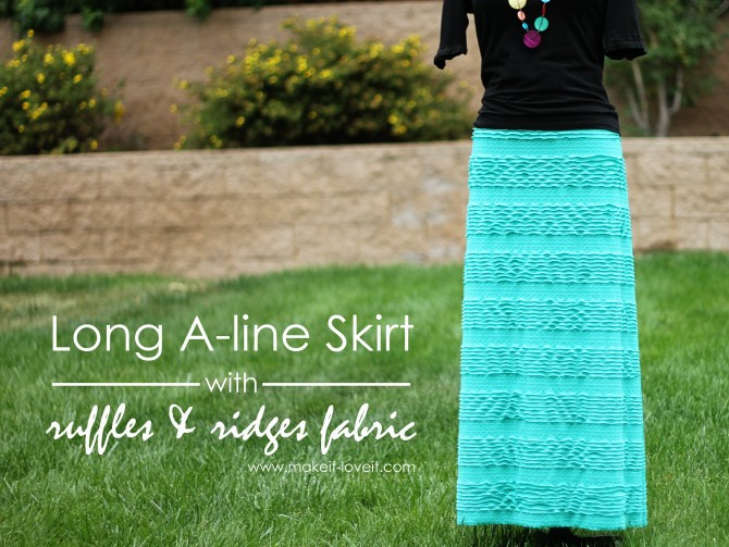 27 A-line Skirt with ruffles