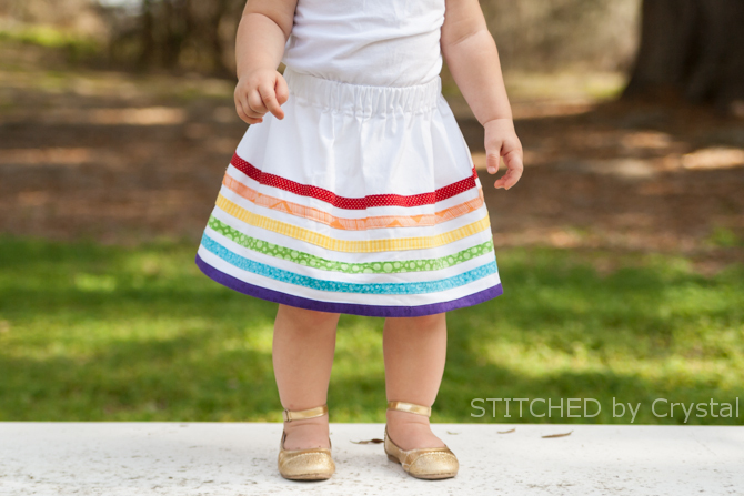 34 Rainbow Bias Tape Skirt