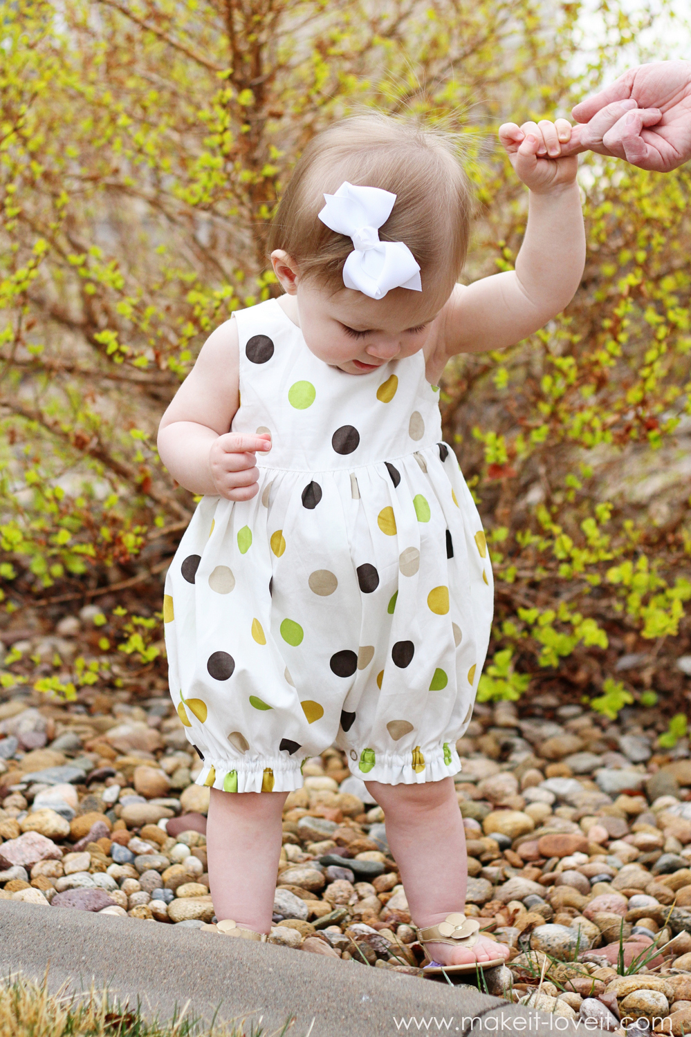 37 Baby Dress into Bubble Romper