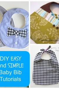 18 DIY EASY and SIMPLE Baby Bib Tutorials