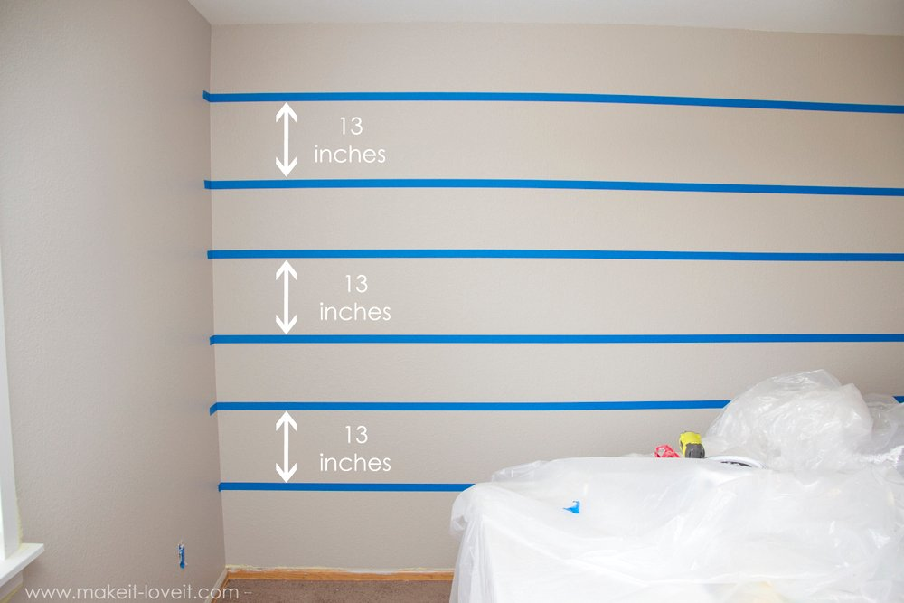 How to Paint Super Straight Horizontal Stripes Make