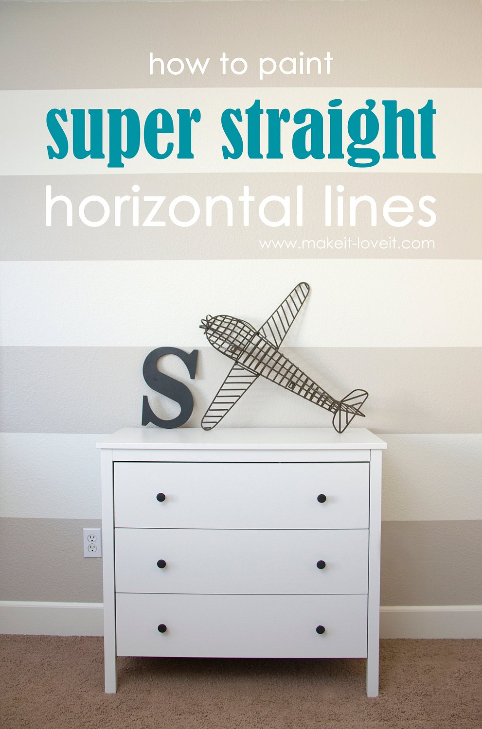how to paint super straight horizontal stripes make it and
