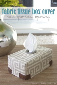 Fabric Tissue Box Cover...with Grommet opening