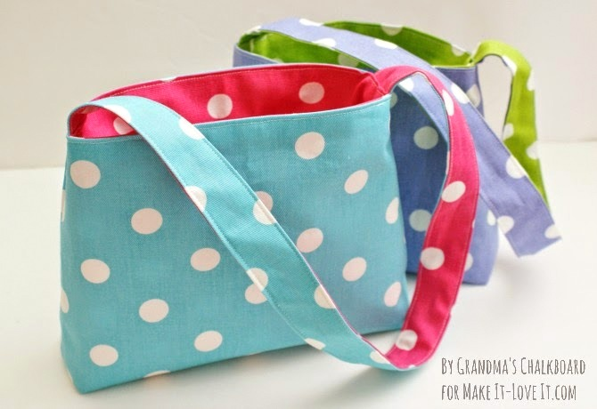 DIY Reversible Bag...for kids! --- Make It and Love It