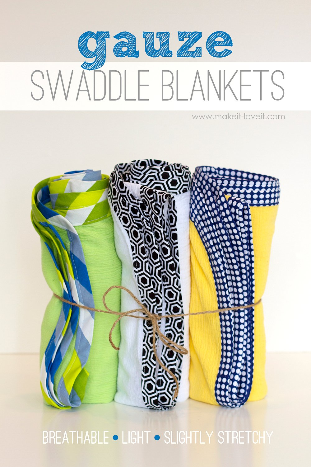 DIY Gauze Swaddle Blankets for Baby (…light and breathable!)