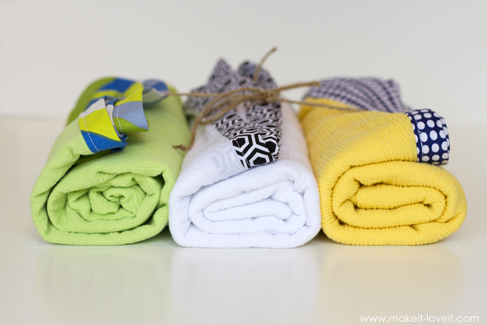 DIY Gauze Swaddle Blankets for baby! Light and breathable...great for a nursing cover too! --- Make It and Love It