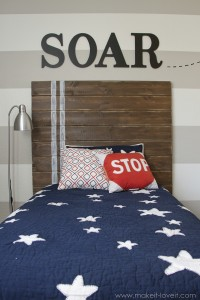 Very Simple DIY Wood Plank HEADBOARD