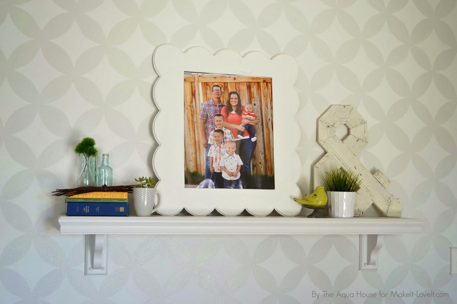 faux fireplace mantle for those without a fireplace make it