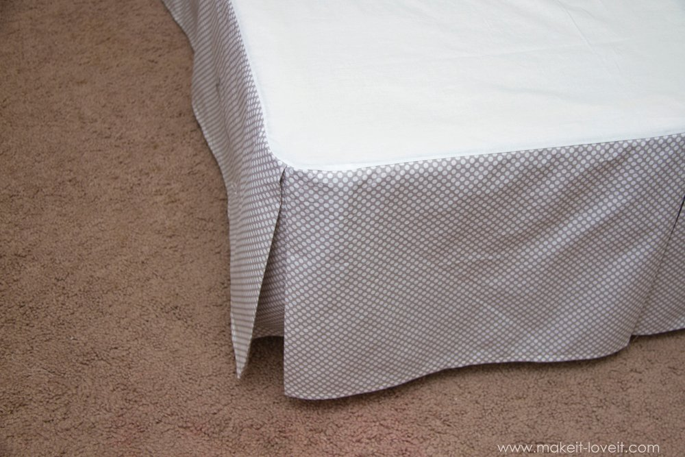 diy pleated bed skirt make it and it