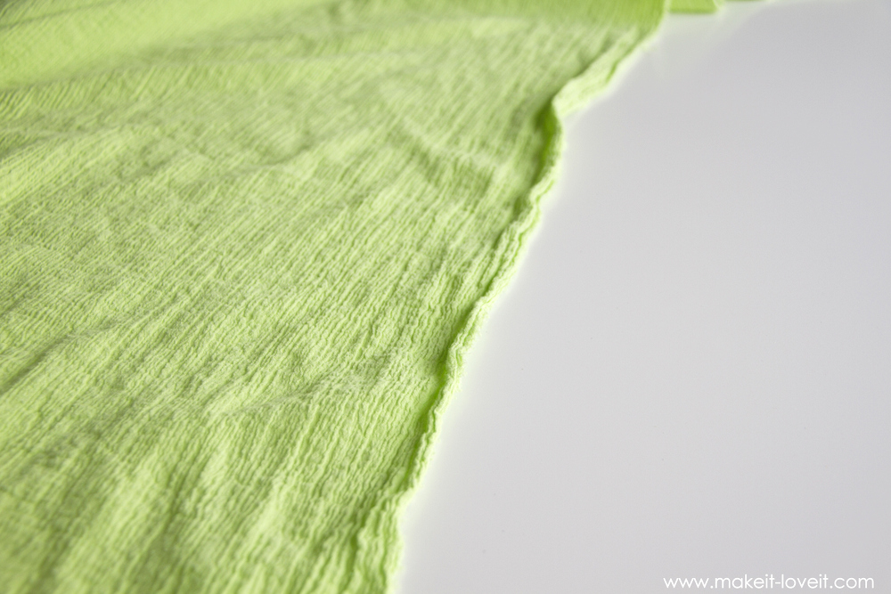 how to make a gauze baby blanket