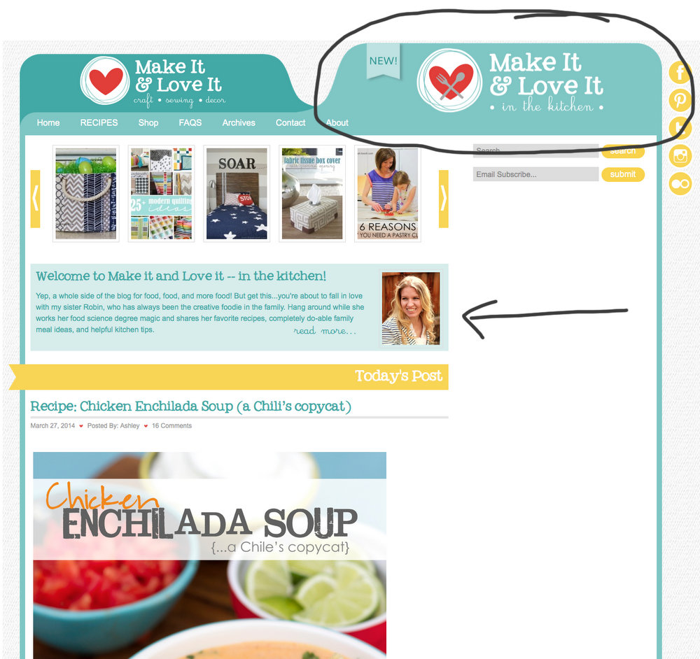 A new BLOG DESIGN…plus, a new feature!