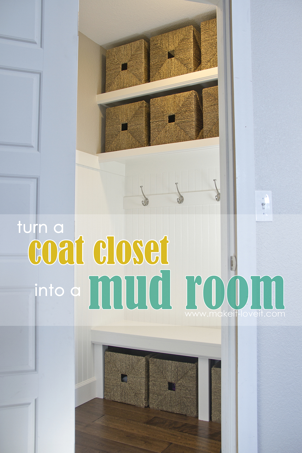 Turn A Coat Closet Into The Perfect Mudroom Make It