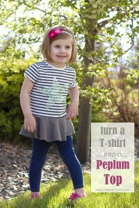 Turn a too-small Tshirt...into a PEPLUM TOP