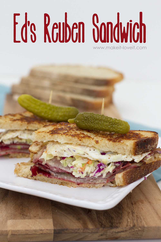 Ed's Reuben Sandwich (…a mild Reuben variation)