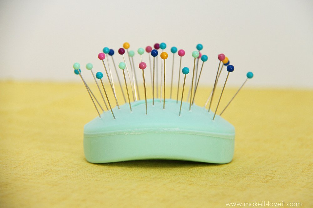 Sewing Tip: no more STUBBORN straight pins --- Make It and Love It