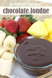 "The Perfect ""non-fussy"" Chocolate Fondue Sauce"