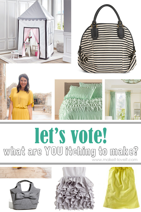 "It's time to vote on another round of… ""WHAT DO YOU WANT TO MAKE?"""