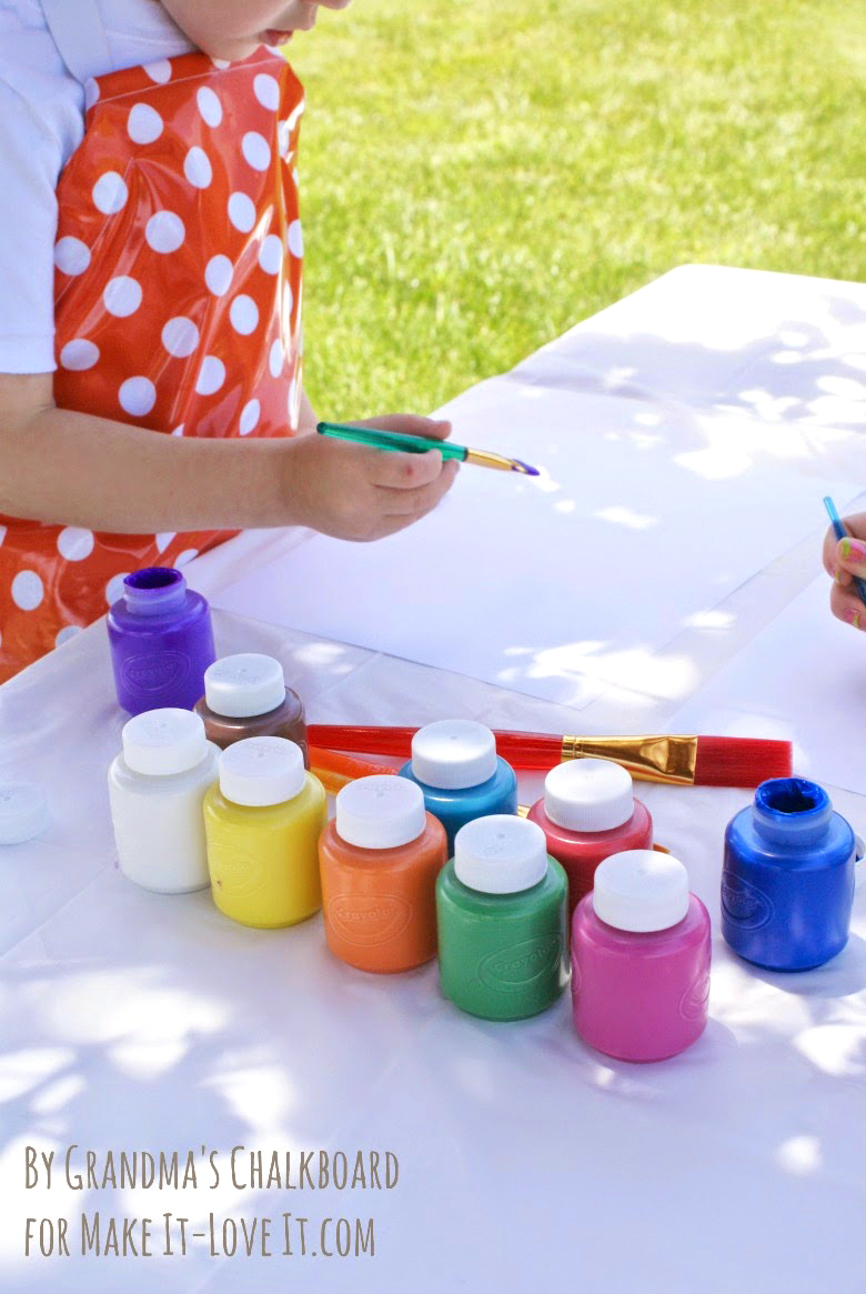 DIY Laminated Apron for Kids...let them explore, while keeping the mess under control. --- Make It and Love It