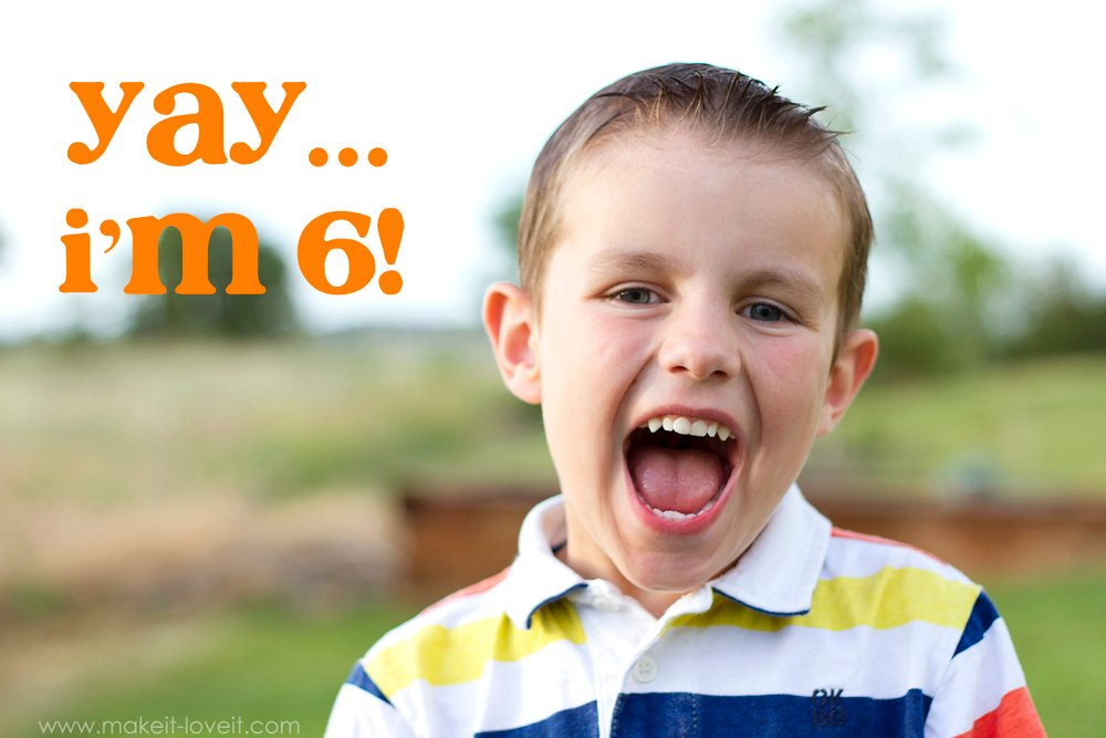 Connor turned 6…..whaaat?!?!