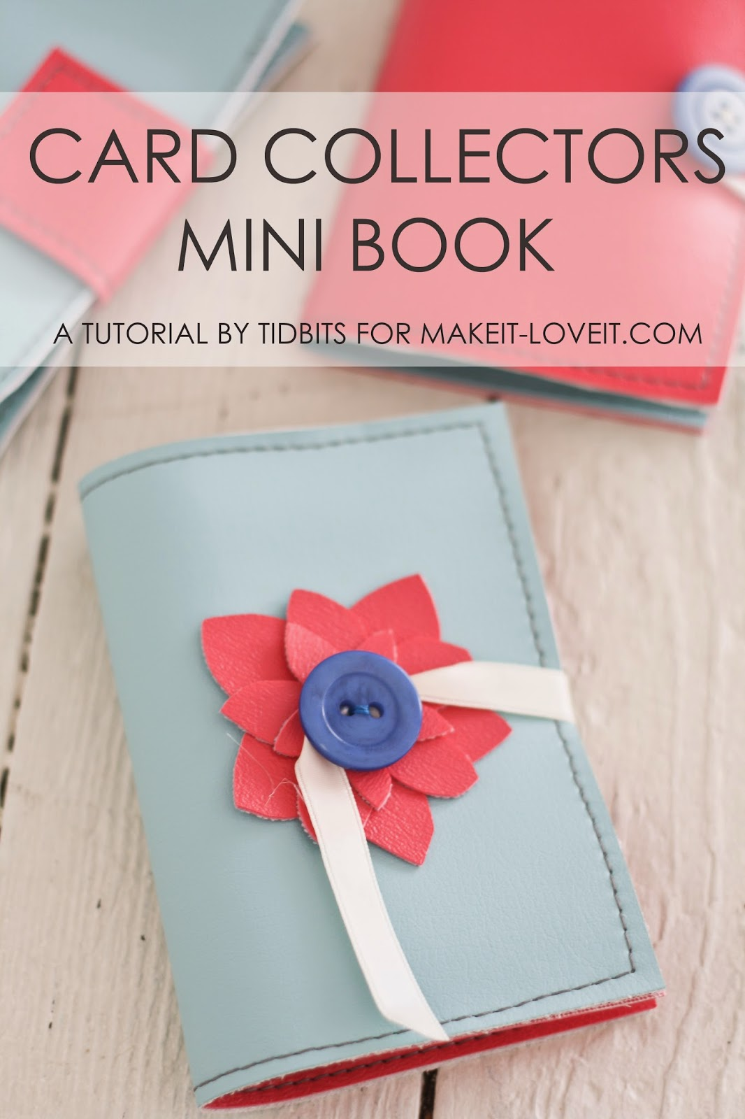 Mini Books for Card Collections (or photos, business cards, etc)