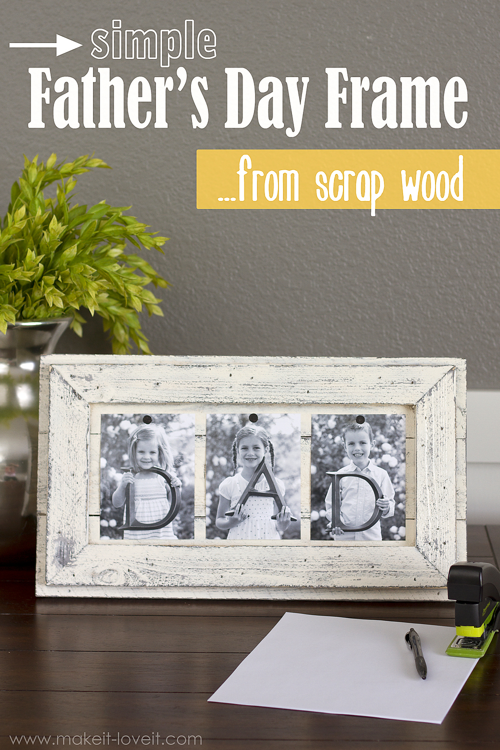 Simple Father's Day Picture Frame...from Scrap Wood --- Make It and Love It