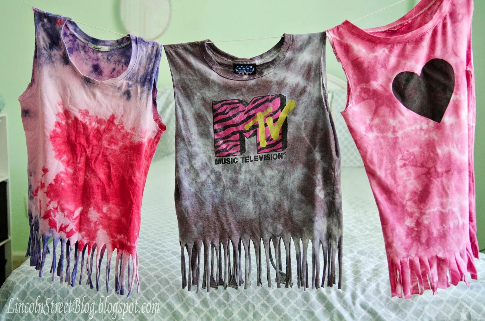 Upcycle tee shirt - tie dye