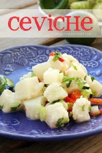 Ceviche...a light and delicious summertime dish!