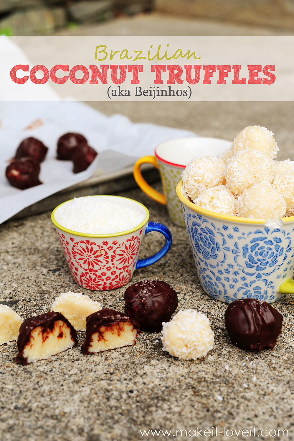 Brazilian Coconut Truffle Balls (aka Beijinhos).  ONLY 3 INGREDIENTS!!! --- Make It and Love It (in the KITCHEN)