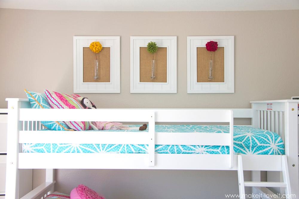Trend Framed Pom Pom Flowers wall decor Make It and Love It