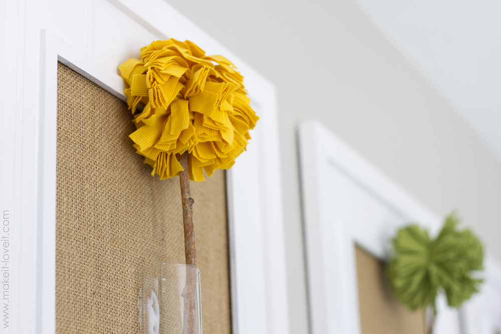 Ideal Framed Pom Pom Flowers wall decor Make It and Love It