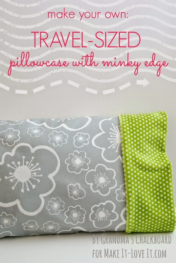 Travel-Sized Pillowcase (with Minky edge)