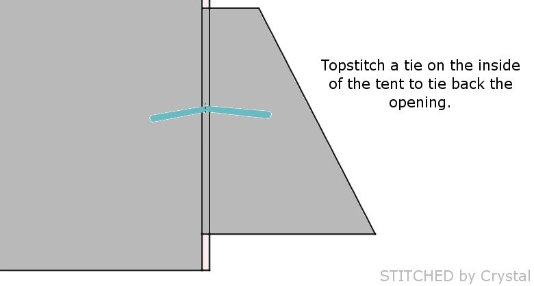 a collapsible frame fabric play tent (makeit-loveit.com)