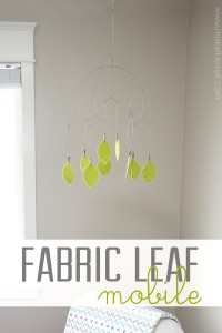 DIY Fabric Leaf Hanging Mobile (...or any other shape) --- Make It and Love It