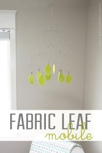 Fabric Leaf Hanging Mobile (...or any other shape)