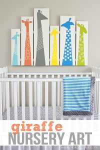 DIY Giraffe Nursery Art (or any other room!)