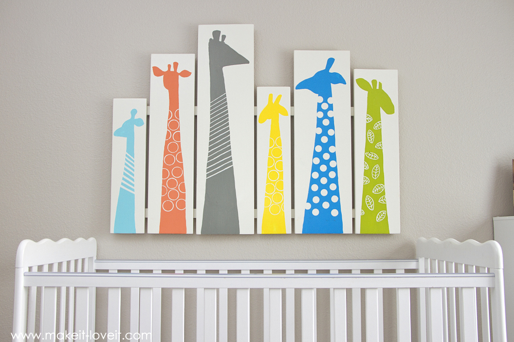 DIY Giraffe Wall Art for Nursery or Kid Room --- Make It and Love It