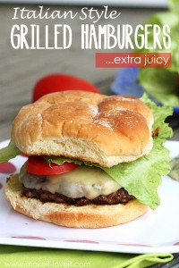 Italian Style GRILLED HAMBURGERS (...extra juicy)