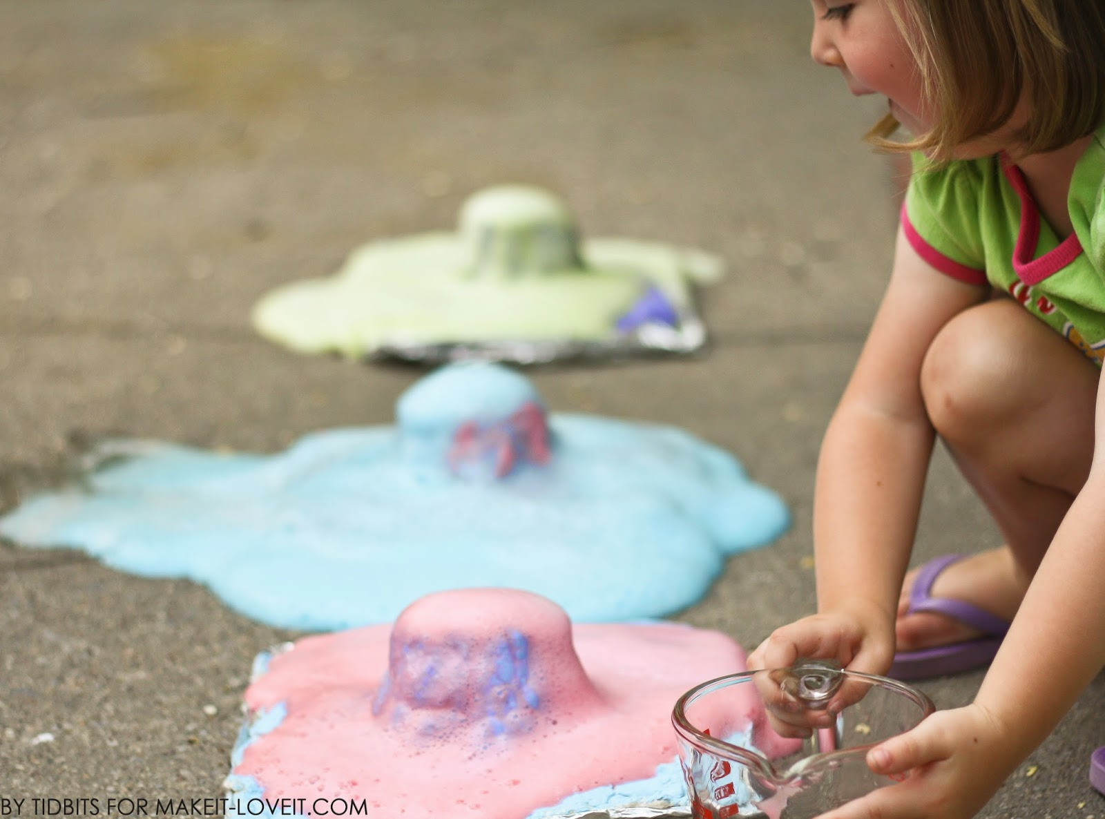 Make your own VOLCANO (sensory, craft, and science) --- Make It and Love It