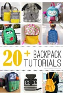 20+ DIY Backpack Tutorials...great for back to school! --- Make It and Love It