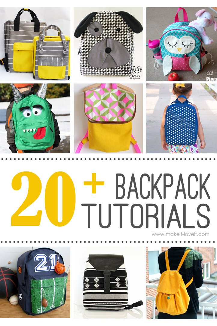 20 Diy Backpack Tutorials Child And Adult Styles Make