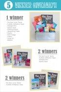 5 winner giveaway