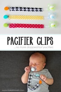 DIY Pacifier Clips...no more dropped/lost pacifiers