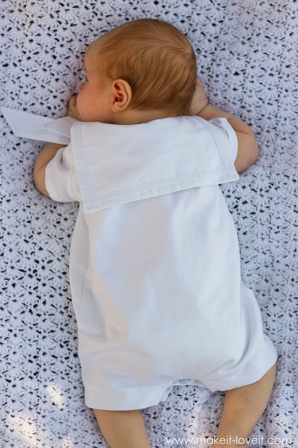 DIY Baby Boy Sailor Romper (for Baby Blessing/Dedication) --- Make It and Love It