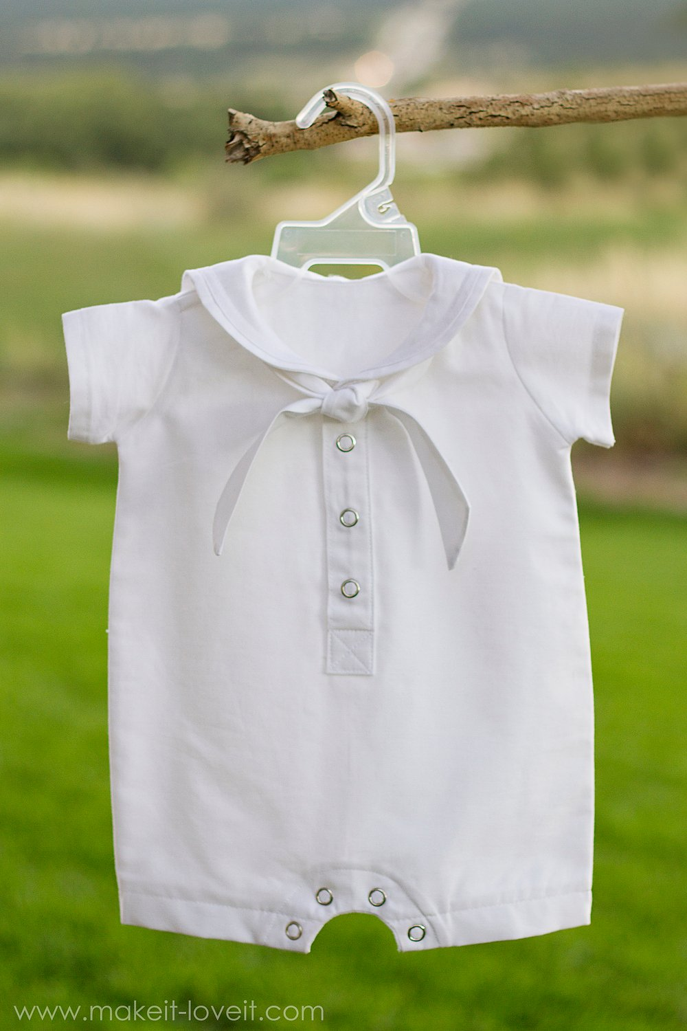 DIY Baby Boy Sailor Romper (for Baby Blessing/Dedication/Christening)