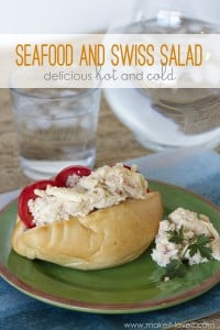 Seafood and Swiss Salad (delicious HOT or COLD!)