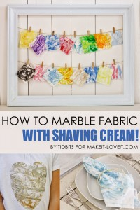 How to Marble Fabric (with shaving cream!!) --- Make It and Love It