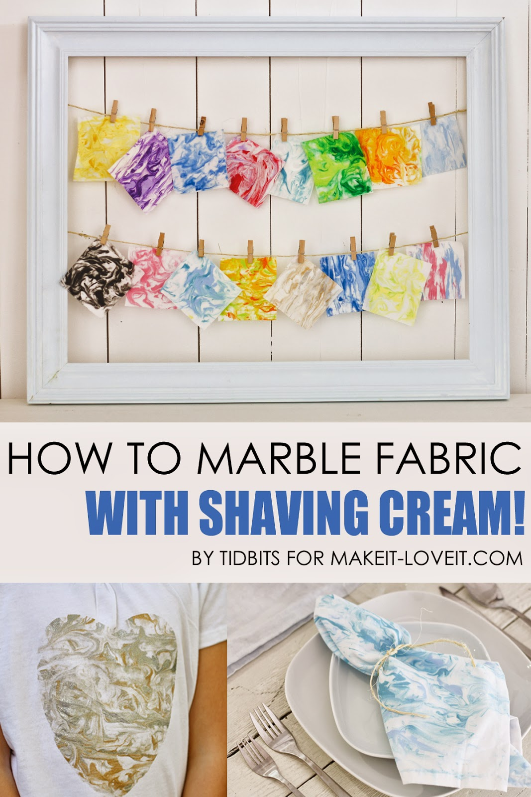 How to Marble Fabric (with shaving cream!!)