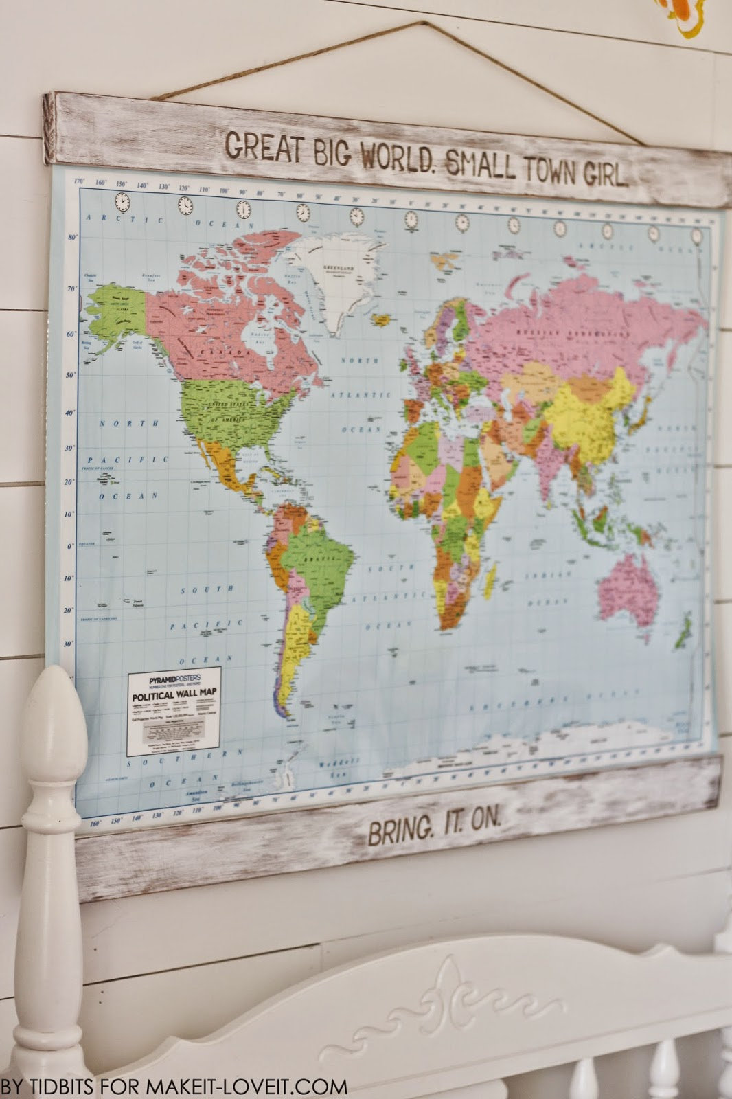 MAP ART (and dry erase board)...for the College Bound! --- Make It and Love It